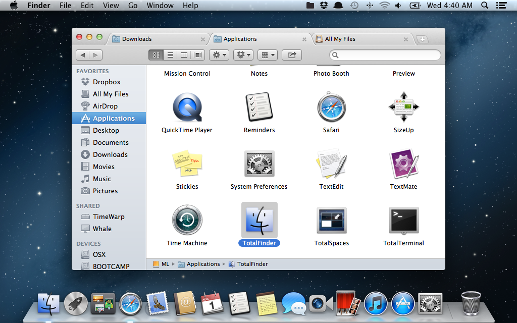 TotalFinder 1.3.5 Mountain Lion